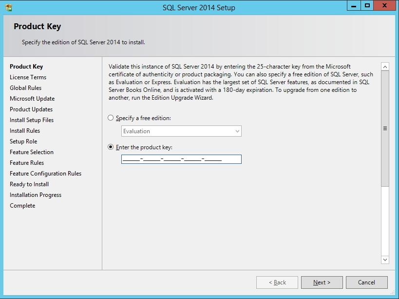 SQL Server - Chave de ativação