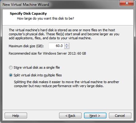 VMware - Informações do HD