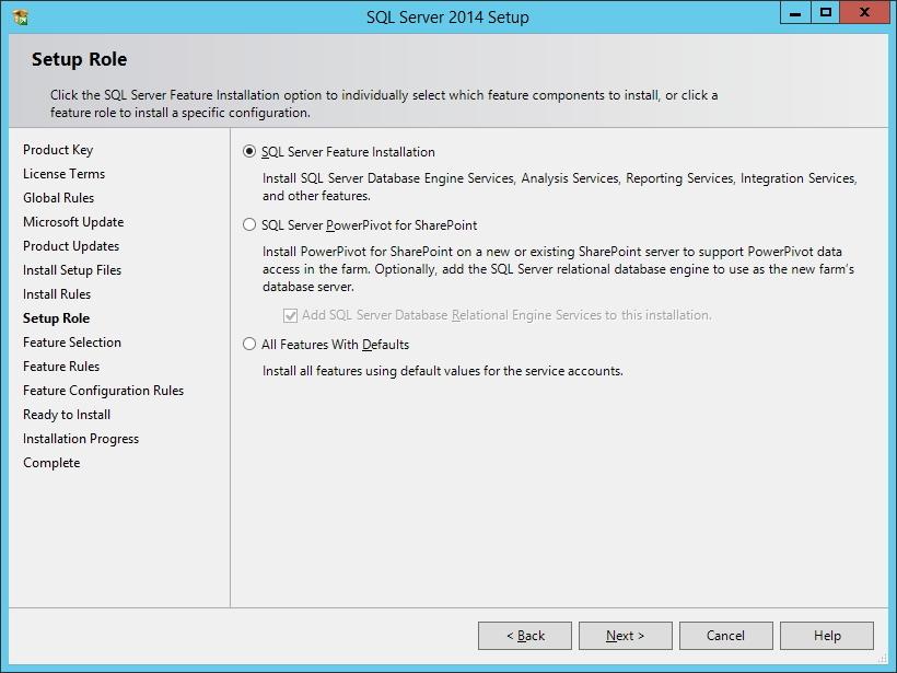 SQL Server - Tipo de instalação