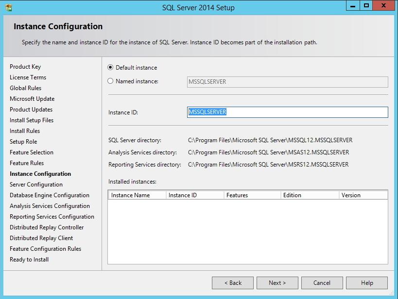 SQL Server - Configuração da Instância