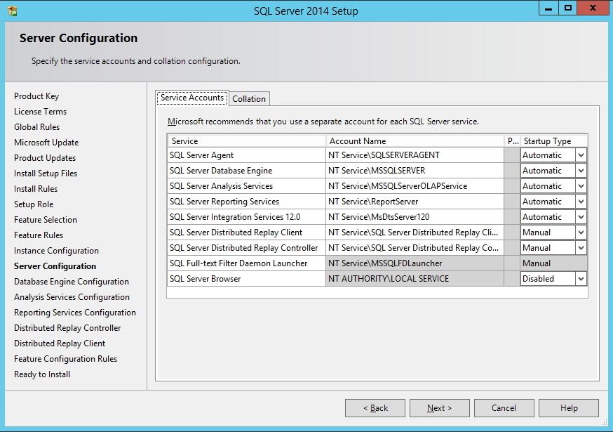 SQL Server - Configuração dos Serviços