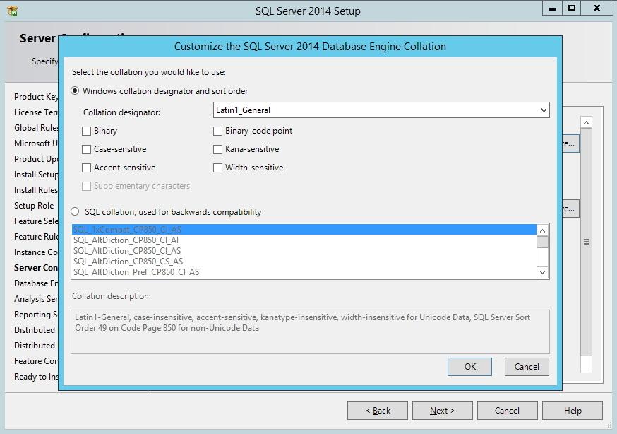 SQL Server - Personalização do Collation