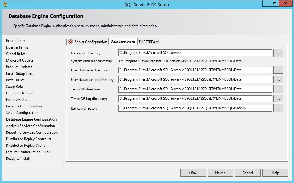 SQL Server - Diretórios do banco de dados