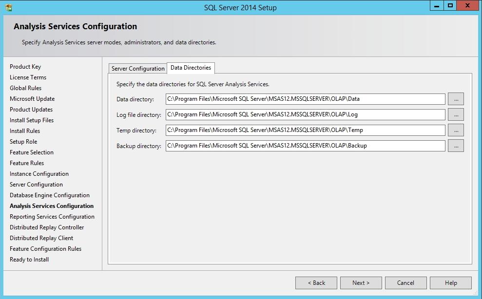 SQL Server - Analysis Services - Diretórios