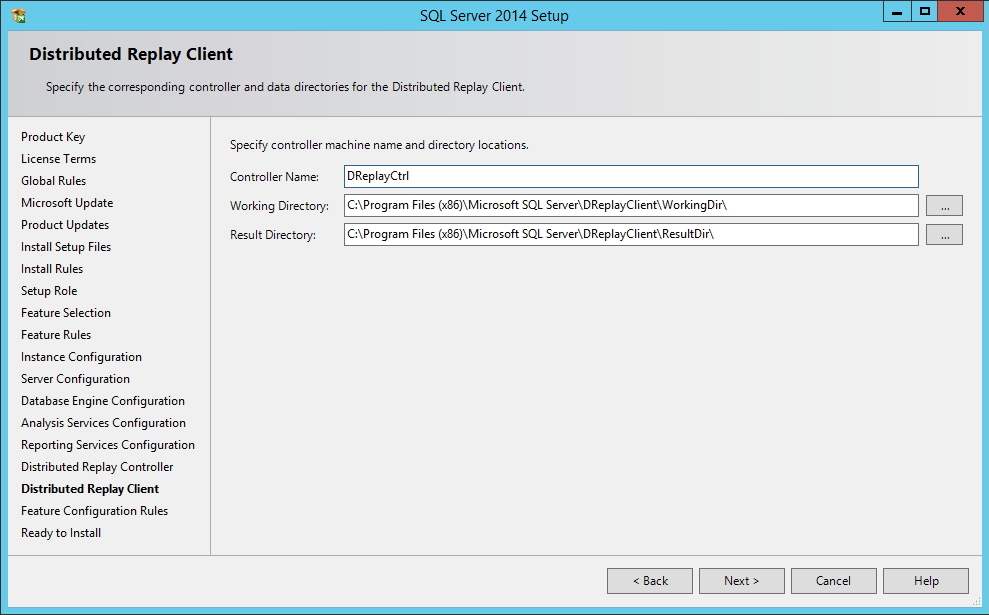 SQL Server - Distributed Replay Client