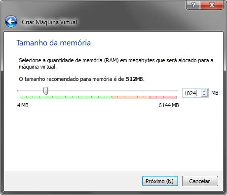 VirtualBox - Memória