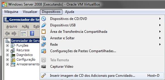 VirtualBox - Imagem para convidados