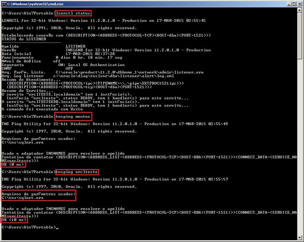 Oracle Client - Configuração 4