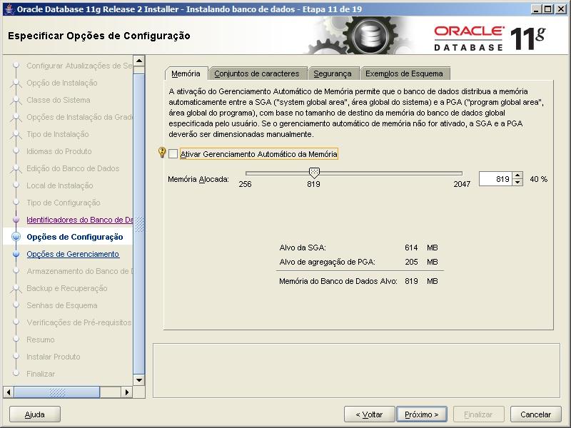 Oracle - Instalação 12