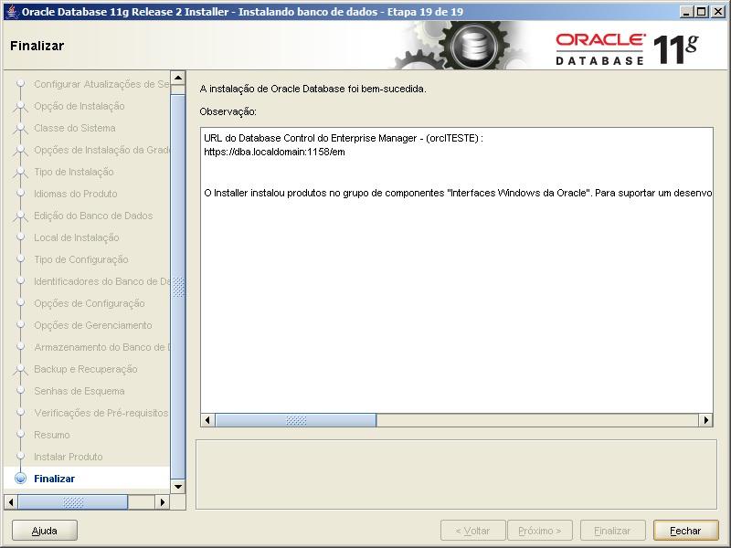Oracle - Instalação 25