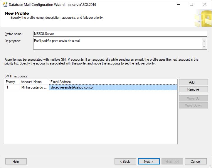 Sql server como ativar e configurar o database mail para - Porta sql server ...