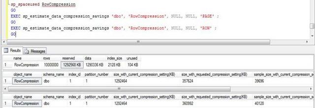SQL Server - Page Compression