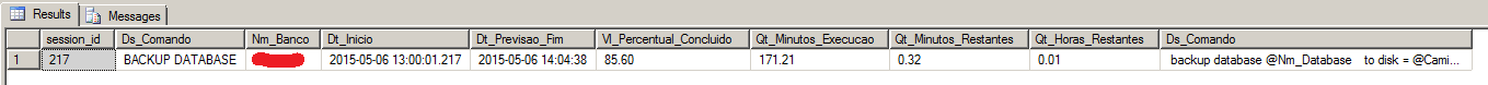 SQL Server - Estimated Time 2