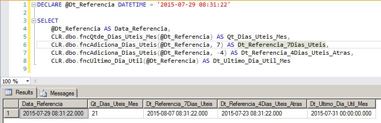 SQL Server - Como calcular dias úteis e feriados função tabela