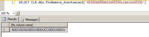 SQL Server - Remove acentuação 2