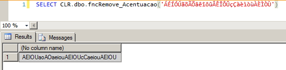 SQL Server - Remove acentuação - SQL CLR