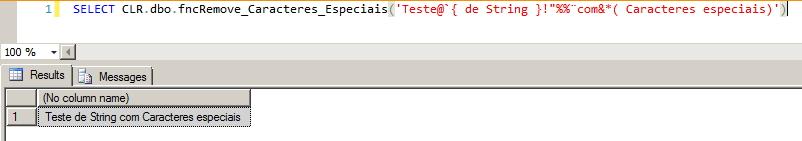 SQL Server - Remover caracteres especiais - UDF