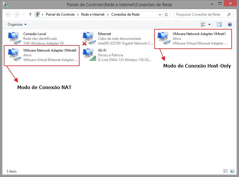 Adaptadores VMware