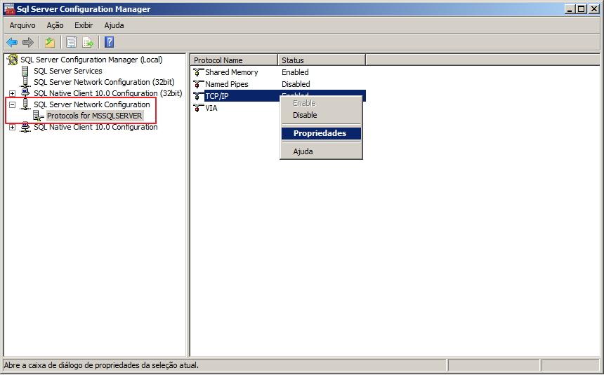 Como identificar a porta utilizada pelo SQL Server - 2