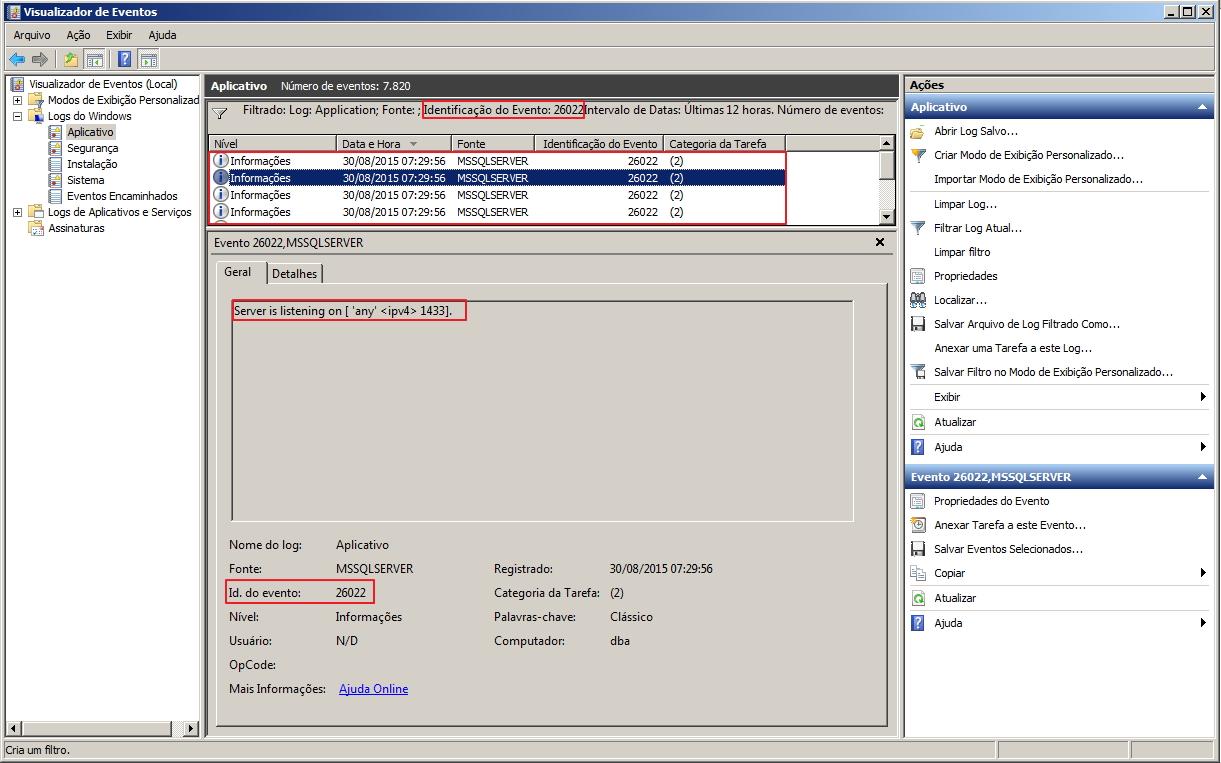 Como identificar a porta utilizada pelo SQL Server - 6