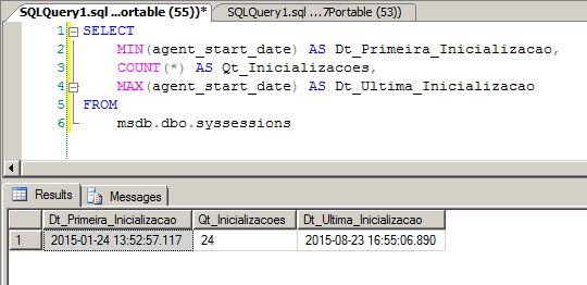 SQL Agent History - syssessions 2