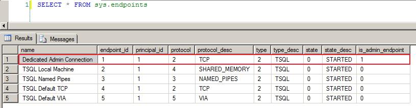 SQL Server - DAC DMV Endpoints