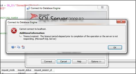SQL Server - Erro de conexão