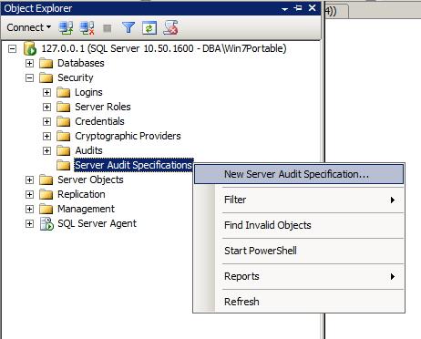 SQL Server - Server Audit