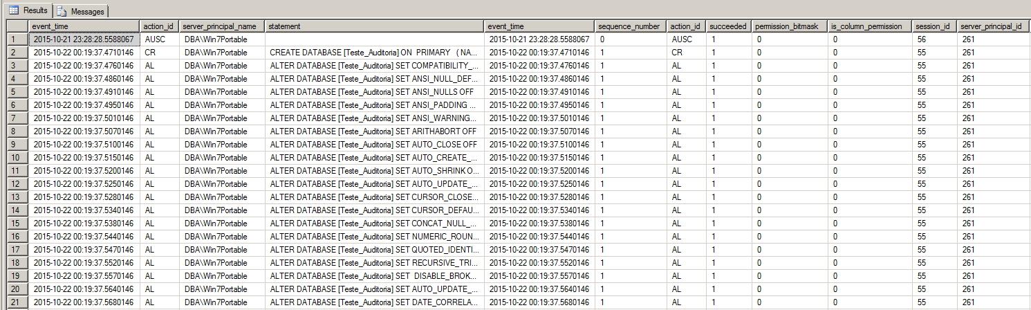 SQL Server - View audit logs SQL Query