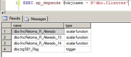 SQL Server-  sp_depends