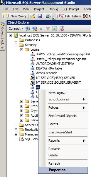 SQL Server - Alter SA Password