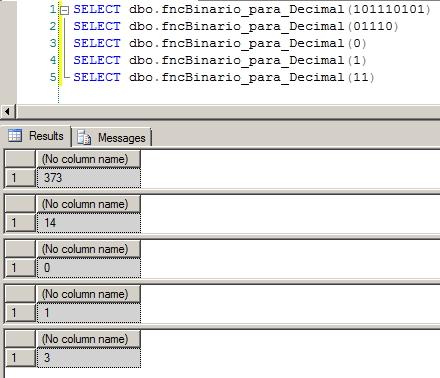 SQL Server - Binário para Decimal