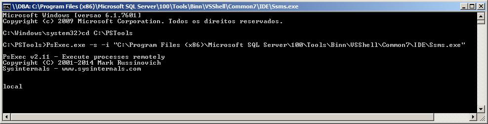 SQL Server - PsExec