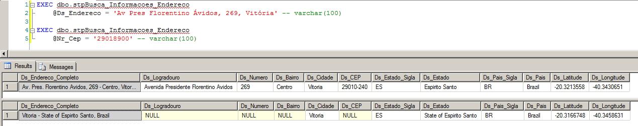 SQL Server - Integração API Google Maps Buscar Endereço CEP