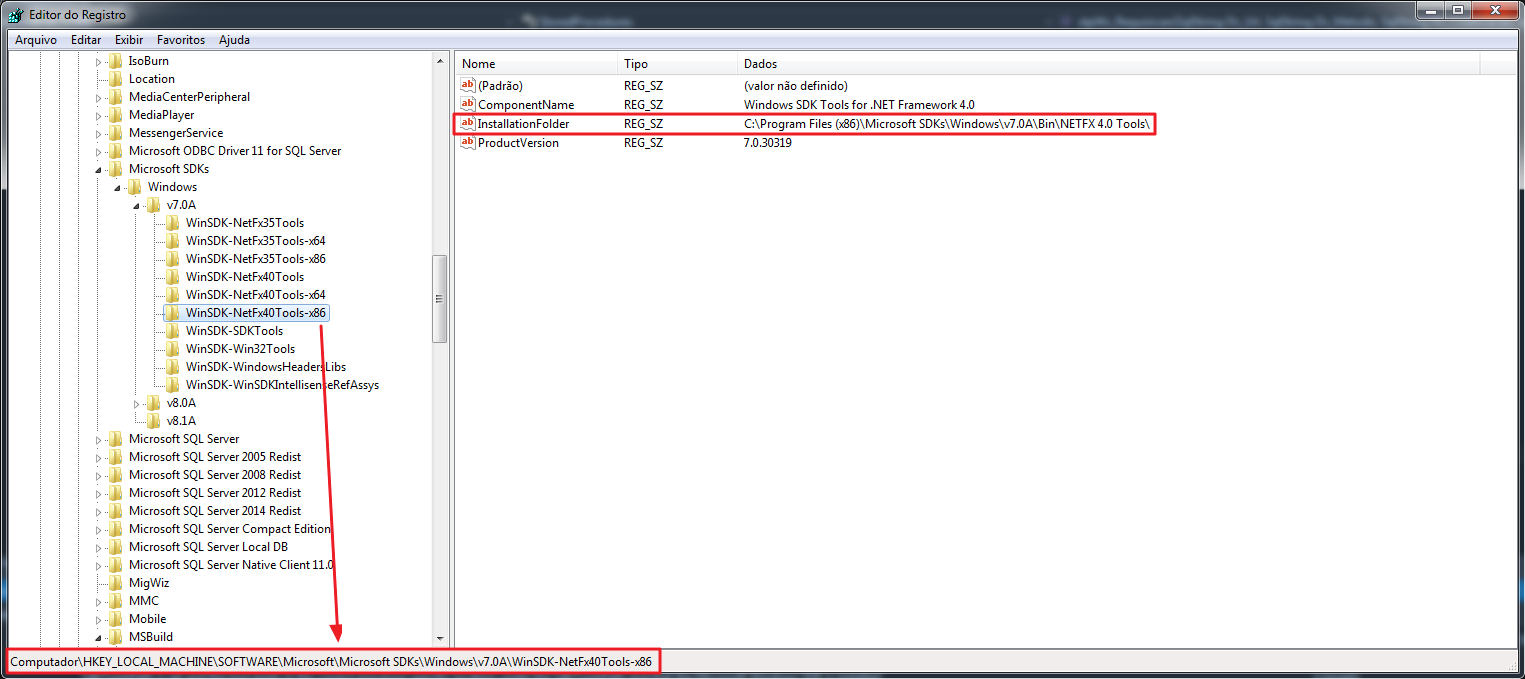 Microsof Visual Studio 2015 - SdkToolsPath Error Fix 2