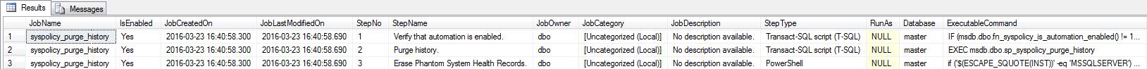 SQL Server Agent - List Jobs 1