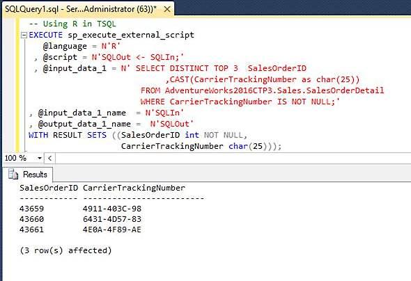 SQL Server 2016 - R