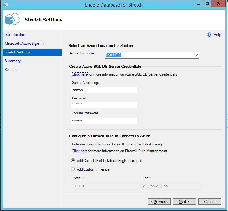 SQL Server 2016 - Strech Database 2