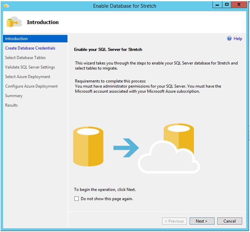 SQL Server 2016 - Strech Database