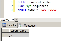 SQL Server - Sequence Current Value