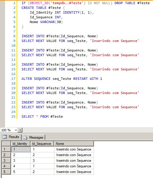 SQL Server - Sequence Restart