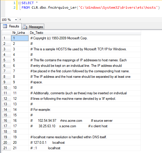 SQL Server - How to read files line by line with CLR