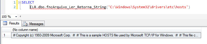 SQL Server - How to read files with CLR