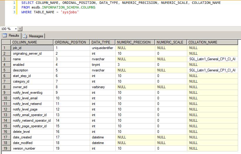 SQL Server - Information_Schema Collation