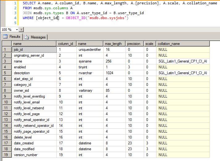 SQL Server - sys.columns collation compatibility level