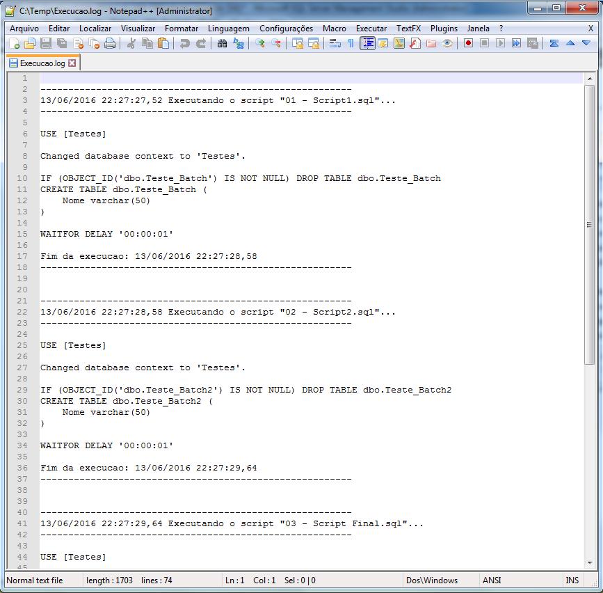 SQL Server - Batch processing executing SQL Scripts in a folder directory SQLCMD Advanced