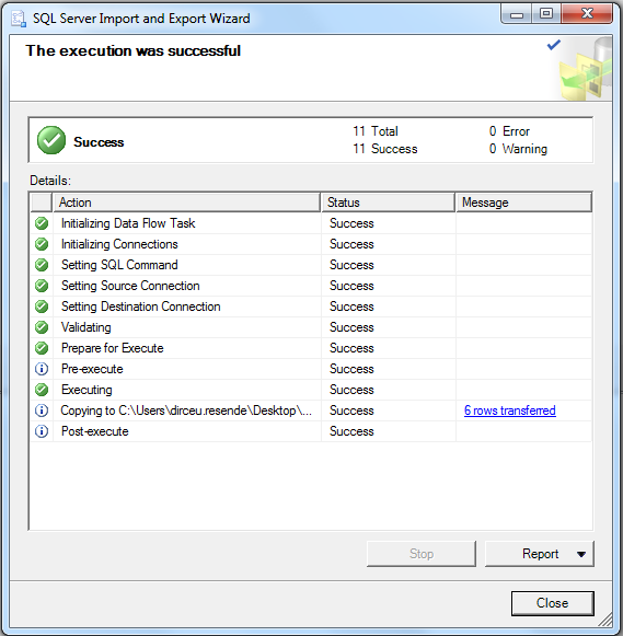 SQL Server - Export data to text file with Management Studio 8