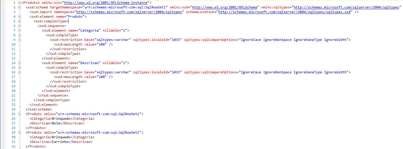 SQL Server - FOR XML AUTO XMLSCHEMA