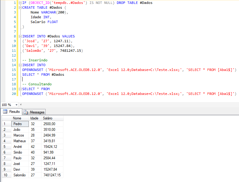 SQL Server - How to insert export data from database to Excel spreadsheet3