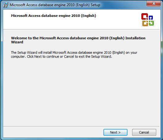 SQL Server - Install Microsoft Access database engine 2010 Setup